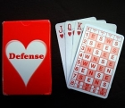ACBL Bridge Series Defense E-Z Deal Cards - Heart Series by Audrey Grant