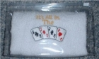 "Bridge Or Poker - Face Cloth ""All in the Cards"""