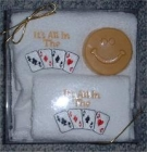 "Bridge Or Poker - Hand Towel Face Cloth and Soap ""All in the Cards"""