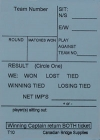 Swiss Team Assignment And Reporting Slips Form T10 (250 Sheets) - Blue