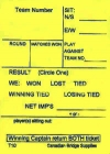 Swiss Team Assignment And Reporting Slips Form T10 (250 Sheets) - Yellow