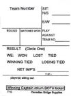 Swiss Team Assignment And Reporting Slips Form T10 (250 Sheets) - White