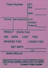 Swiss Team Assignment And Reporting Slips Form T10 (250 Sheets) - Pink