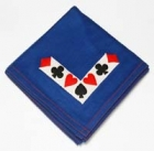 "Bridge Game Table Cover ""L"" Design Handmade Wool for Bridge Gaming"