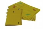 Bridge - Plastic Duplicate Wallets-Yellow. #1-8