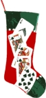 Christmas Stocking With Royal Flush Design
