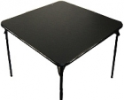 "Samsonite 34"" Folding Bridge Table Cards Table Black Lace"