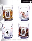 Drinking Glasses Old Fashioned Bridge Card Party Design