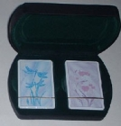 Playing Cards Gift Set In Black Soft Touch Box