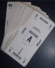 Table Number Cards - (10 Mil) #1-18 - White (A.K.A Table Marker Cards)