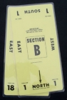 Table Number Cards - (10 Mil) #1-18 - Yellow (A.K.A Table Marker Cards)