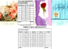 Bridge Tally Card Rose